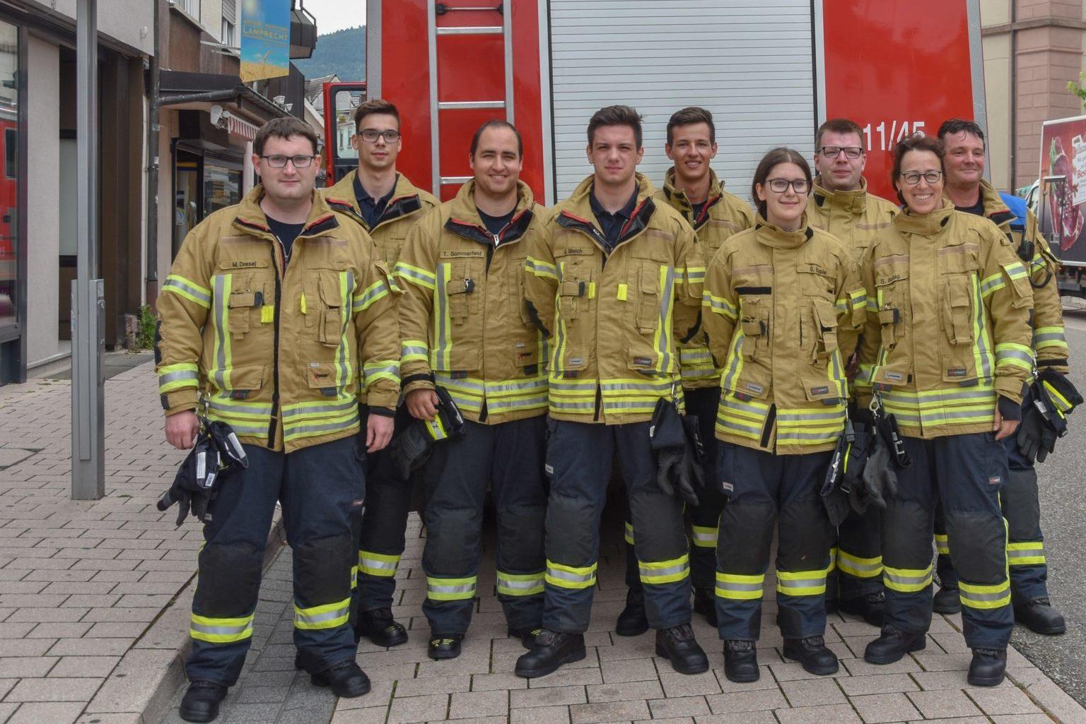 Die Gruppe aus Baden-Baden mit unserem Kamerad Christian Feld (5. von links)